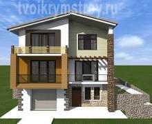 проект дома с гаражом Севастоль