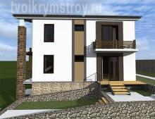 проект дома выход на терассу