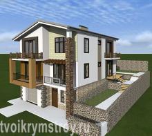 проект загородного дома Севастополь