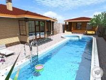 проект коттеджа с бассейном