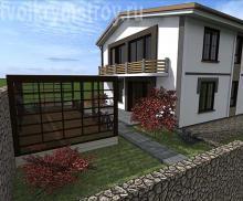 проект дома с терассой Севастополь