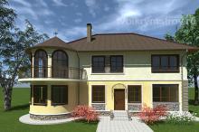 Проект дома с эркером Севастополь